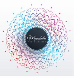 Colorful mandala art decoration background vector