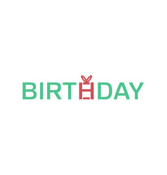 creative birthday typography letter logo vector image