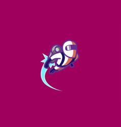 creative jetpack logo symbol jetpack logo vector image