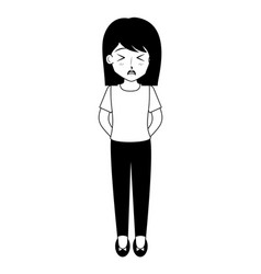 cute anime girl manga vector image