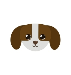 cute small puppy dog icon pet vector image