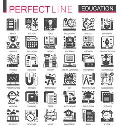 education classic black mini concept symbols vector image