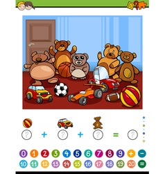 Educational maths activity vector