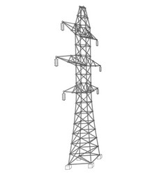 Electric pylon or electric tower concept vector