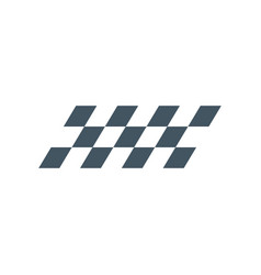 F1 checkered symbol or flag finish line stock vector