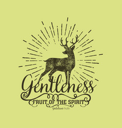 fruit of the spirit gentleness vector image