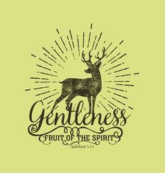 Fruit spirit gentleness vector