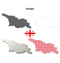 Georgia outline map set vector
