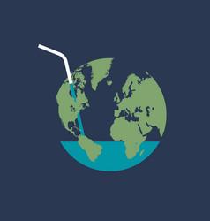 Global water crisis vector