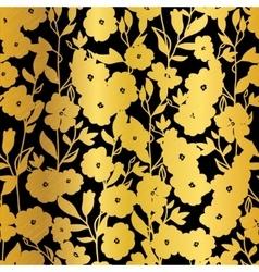 Golden Black Flowers Blossoms Kimono vector