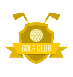 Golf club icon isolated vector