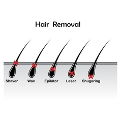 Hair removal background vector