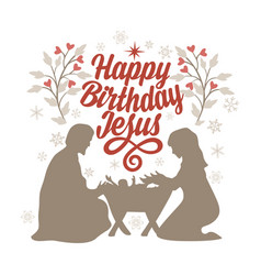 happy birthday jesus vector image