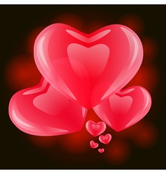 Hearts on Valentines Day vector image