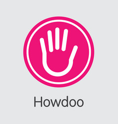Howdoo virtual currency doo logo vector