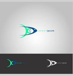 icon fish fish market vector image