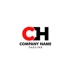 initial letter ch logo design vector image