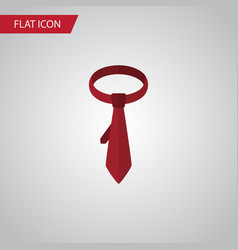isolated tie flat icon cravat element can vector image