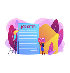 Job offer concept vector