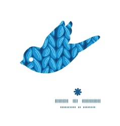 Knit sewater fabric horizontal texture bird vector