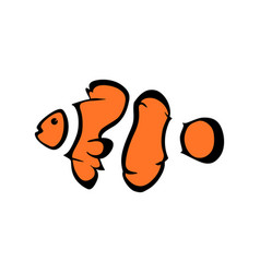 logo clown fish sea fish logotype vector image