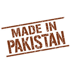 Made in pakistan stamp vector