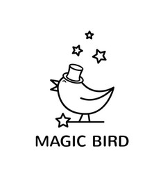 magic bird logo vector image