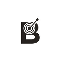 Marketing target with b letter shot target logo vector