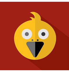 Modern Flat Design Bird Icon vector image