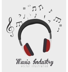 Music headphones isolated icon design vector