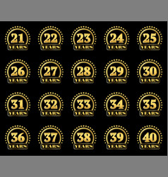 number award v2 en 21-40 vector image