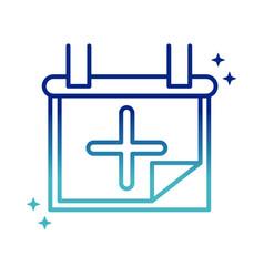 Online health medical calendar reminder consult vector