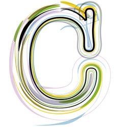 Organic Font letter c vector image