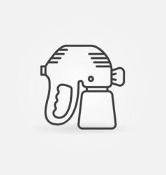 Paint sprayer or spray gun concept line vector