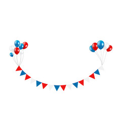 party design element with flags and balloons vector image