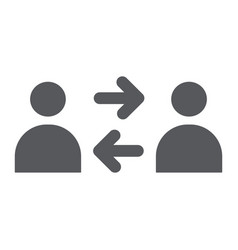 people exchange glyph icon connection and person vector image
