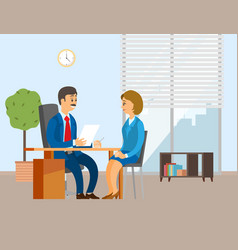 People working in office positive vector
