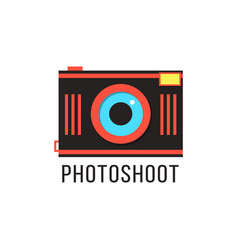 photoshoot icon with red camera vector image