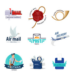 postal service icon for post mail delivery design vector image