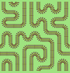 railroad track seamless pattern vector image