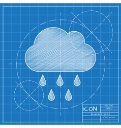 rain icon Eps10 vector image