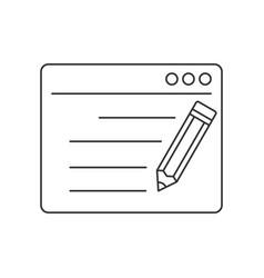 Seo copywriting line icon vector