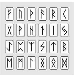Set of signs runes vector
