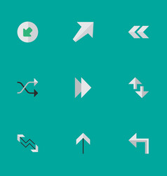 Set of simple arrows icons vector