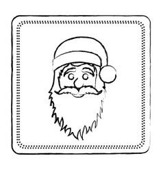 Sketch frame of santa claus face vector