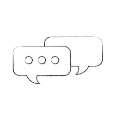 speech bubbles message chat talk concept vector image