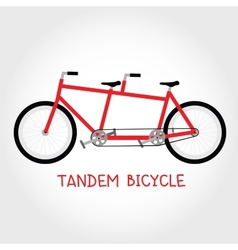 Tandem bicycle isolated vector