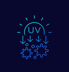 Uv light for a disinfection linear icon vector