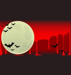 vampire bats background vector image