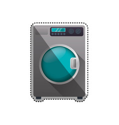 washing machine laundry vector image